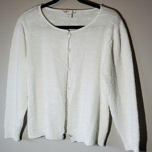 VINTAGE White Knitted Cardigan